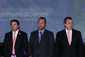 Juan Gerardo Flores, Francisco Blake Mora y Angel Aguirre.