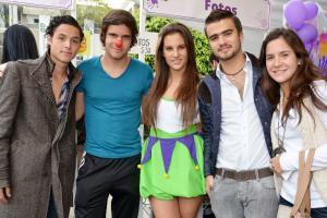 Gonzalo Viega, Rafael del Río, Alexa Zúñiga, Daniel López y Daniela Olea