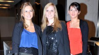 Julia Pupin, Lorraine Laprun y Clemence Le Bolloch