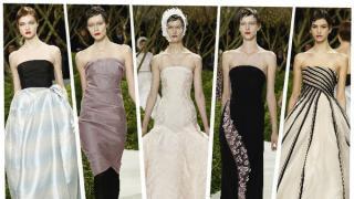 En el segundo día de la semana de la moda de alta costura, Raf Simons presentó su segunda colección Couture para Christian Dior