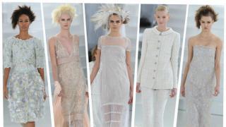 El estilo deportivo se apoderó de la pasarela de Chanel, por donde desfilaron hermosos vestidos acompañados de lujosas rodilleras, coderas y tenis.