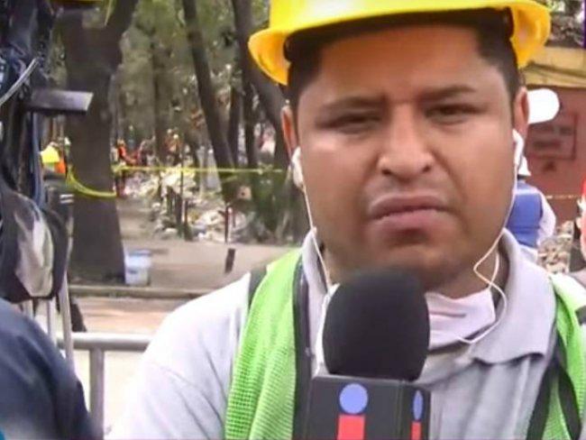 Llora conductora por víctima del sismo en programa en vivo