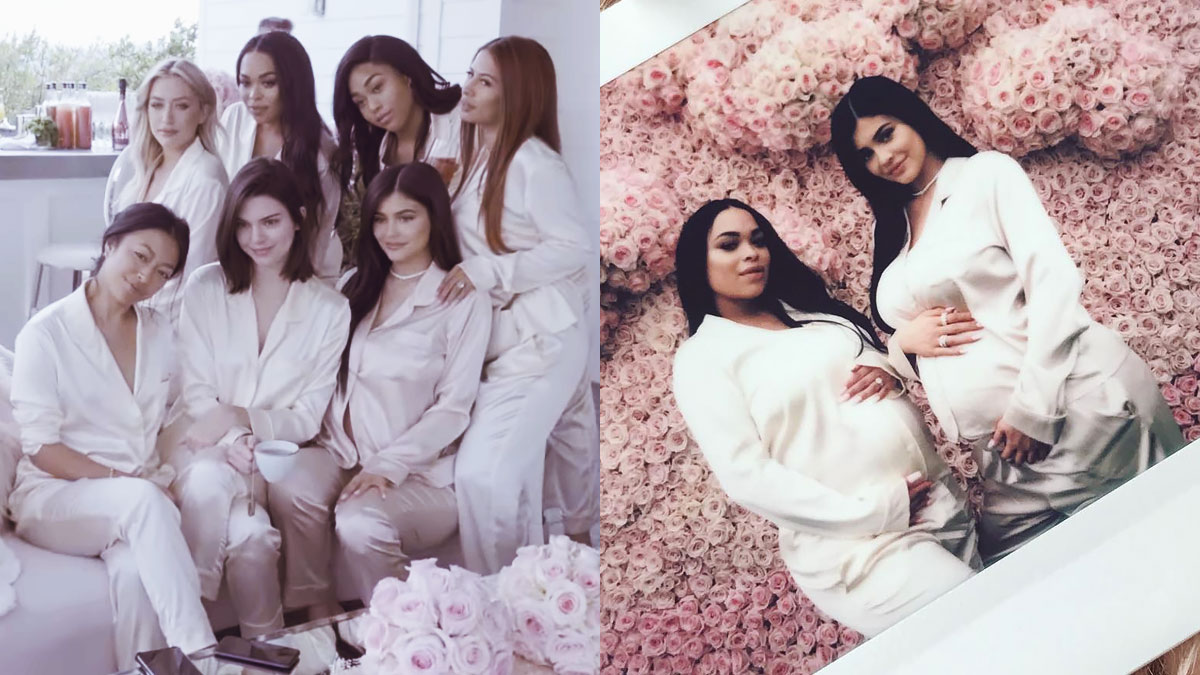 KYLIE-JENNER-BABY-SHOWER-PIJAMAS