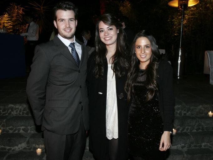 Diego Reyes, Mariana Aganbere y Paulina Maas