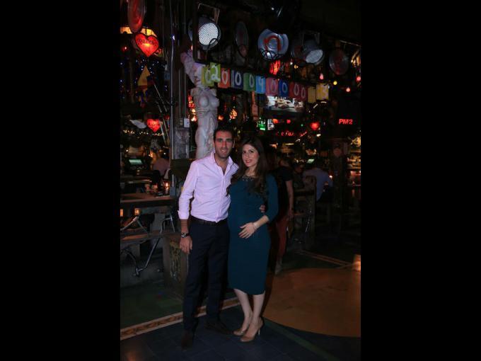Asaf Zanzuri con Danniela Ramírez