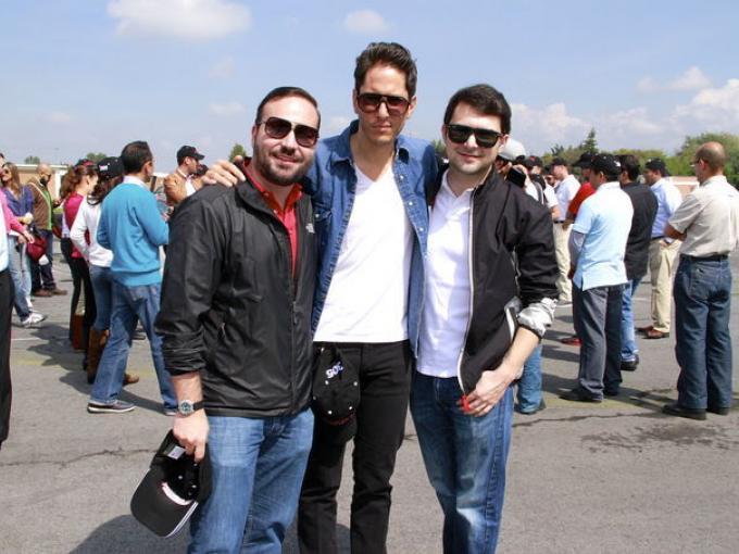 Érick Hernández, Mauricio Cuevas y Jorge Guerra
