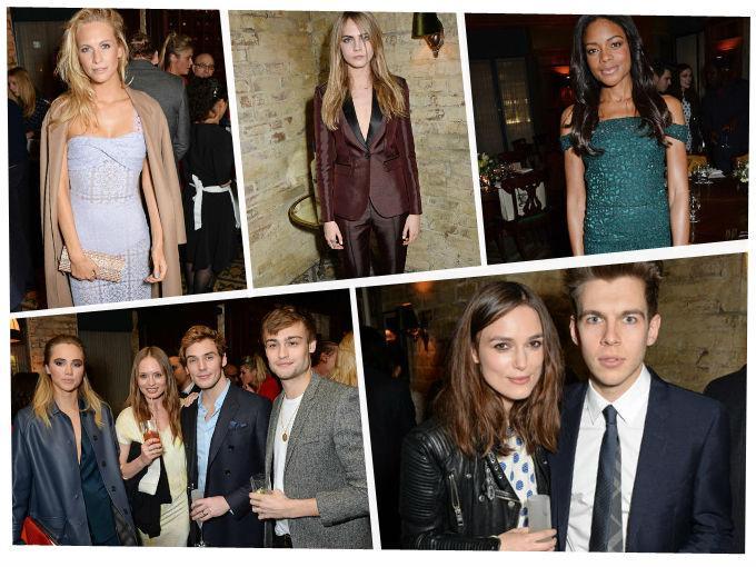 Cara Delevingne, Naomie Harris y Keira Knightley fueron sólo algunos de los invitados que disfrutaron de la cena que ofrecieron Burberry y Harvey Weinstein para celebrar los premios BAFTA.
