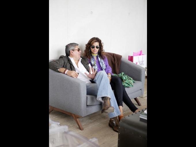 Jesús García y Elena Reza