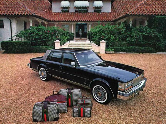 Cadillac seville by Gucci. Se creó en 1979 y solo estaba disponible en blanco, negro y color marrón.