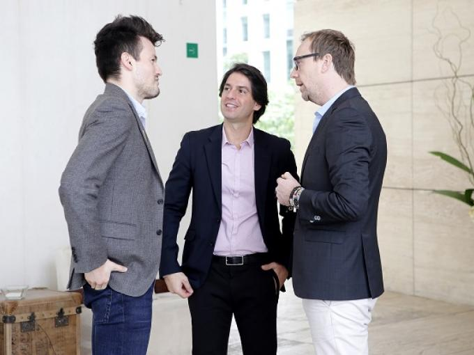 Michel Heredia, Abelardo Marcondes y Phillipe Kjellgren
