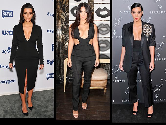Desde que comenzó su relación con Kanye West,  Kim Kardashian ha cambiado drásticamente su forma de vestir. Ahora la vemos en la primera fila de París Fashion Week luciendo prendas de afamados diseñadores y apareciendo en las listas de mejor vestidas alrededor del mundo. Pero hay algo que la chica de la reality TV no puede abandonar, obviamente nos referimos a los pronunciados escotes que ha lucido una y otra vez a lo largo de este año.