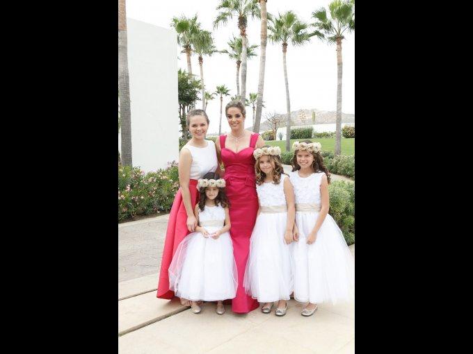 Hayley Mogollón Coppel, Hayley Coppel de Mogollón, Alexia Mogollón, Nicole Mogollón y Alexa Mogollón