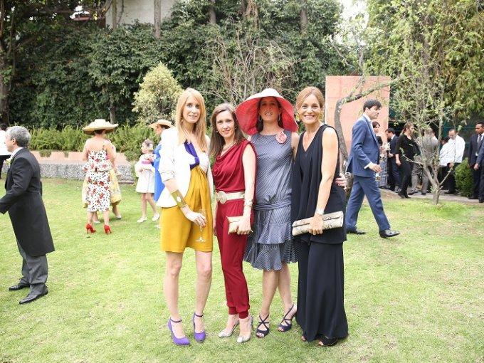 Leticia Lozano, Lola Cabrero, Martha Rodríguez y Elvira Díaz
