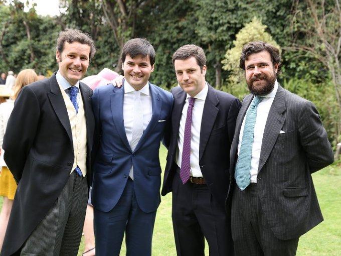 Carlos de Corral, Miguel Villa, Juan Ramón Prieto y Asís Colomina