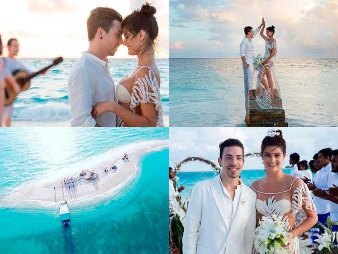 Mientras la mayoría de las modelos brasileñas disfrutan de los Olímpicos de Río, Isabeli Fontana se fue a las islas Maldivas, donde contrajo matrimonio con Diego Ferrero, vocalista de la banda brasileña NX Zero, en una ceremonia de ensueño.