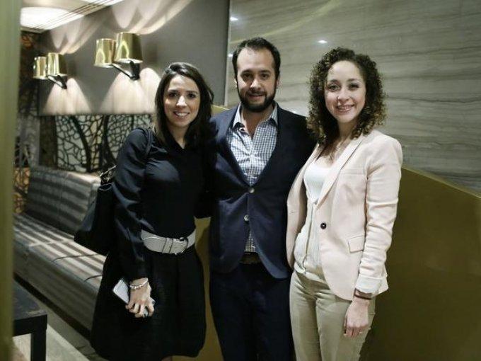 María Zurutuza, Eduardo González y Daniela Guerra