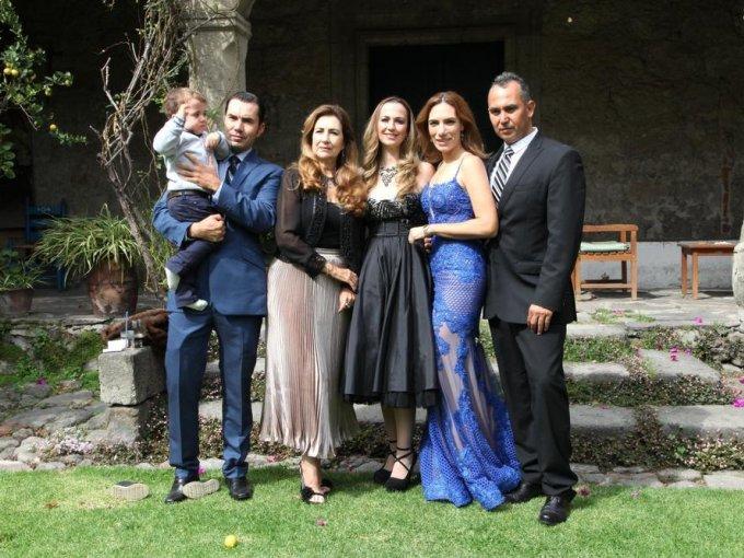 Fernando Garza, Fernando Garza, Lilia de la Fuente, Diana Aguirre, Tati Garza y Javier Treviño