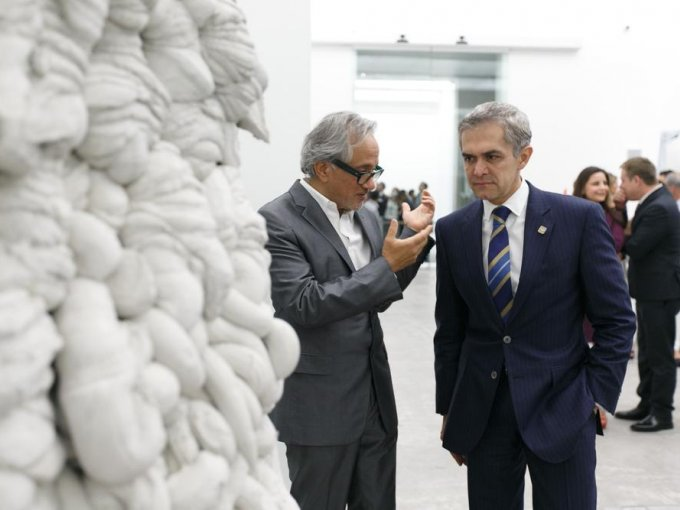 Anish Kapoor y Miguel Ángel Mancera