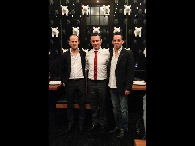 Jorge Cascajares, Rodrigo Gómez y Luis Cascajares