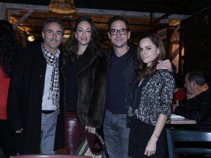 Juan Carlos Cházaro, Karina de los Santos, Eduardo Vértiz y Patricia Ríos