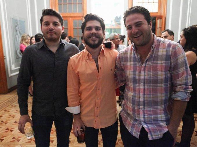 Fernando Flores, Manuel Labrador y Rodrigo Méndez