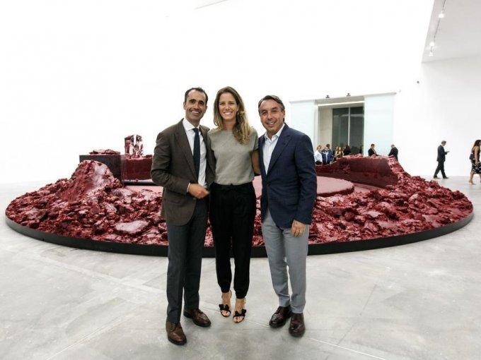 Andrés Gómez, Sharon Fastlicht y Emilio Azcárraga