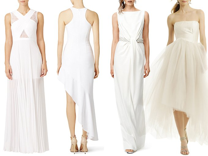 Renttherunway.com es un sitio que renta vestidos de diseñador a precios accesibles y que puedes conseguir fácilmente. De esta forma no tendrás que preocuparte por sacrificar tu bolsillo por el estilo, ni siquiera el día de tu boda. Aquí te dejamos nuestros vestidos de novia favoritos.