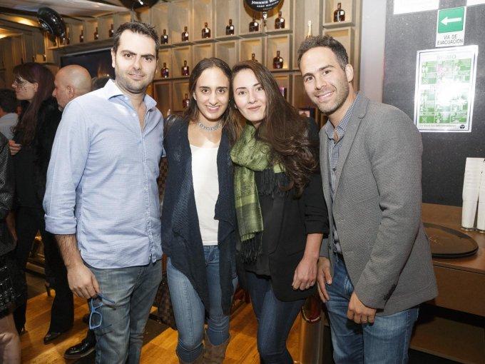 Jack Romano, Margaret Bazbaz, Martha Franco y Gonzalo Muñoz