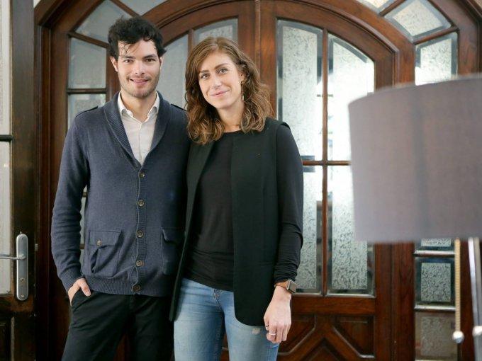 Santiago Saracho y Frida Ojeda