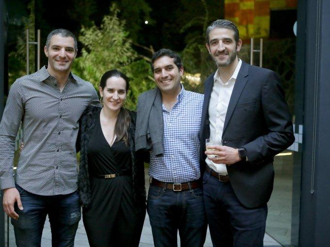 Omar Tamimi, Gabriela Miño, Santiago Manfredi y Juan Carlos Hartasánchez