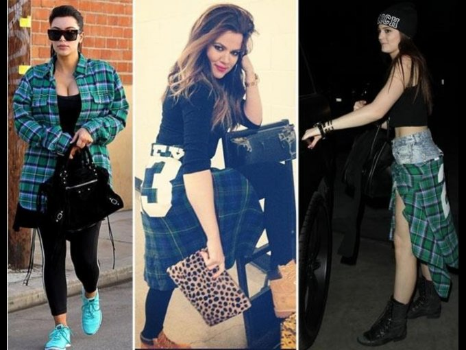 BLUSA. Kim Kardashian, Khloé Kardashian y Kylie Jenner