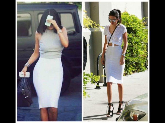 FALDA. Kylie y Kendall Jenner