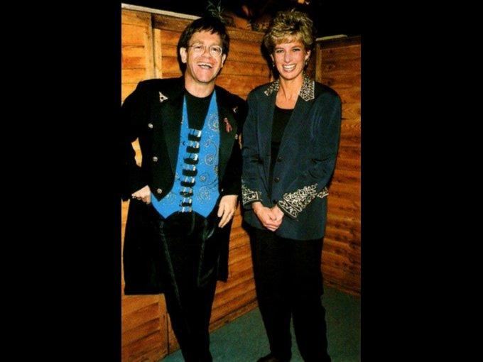 Elton John y Lady Di