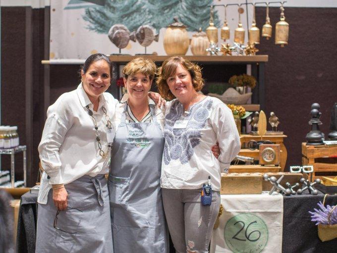 Irma Zapata, María Rey y Regina Hagemeister