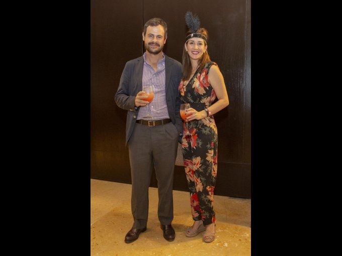 Miguel Mahiques y Melissa Aldejar
