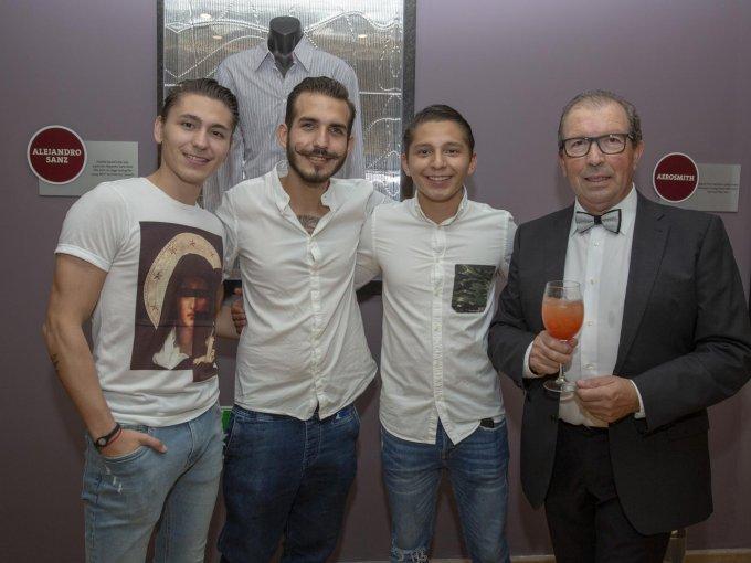 Alonso Domínguez, Miguel del Valle, Luis Pablo Domínguez y Francisco Moya