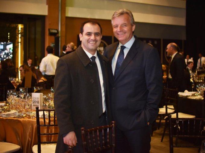 El chef Jonatán Gómez Luna, del restaurante Le Chic (Mejor Restaurante de Hotel), y Jeroen Hanlo