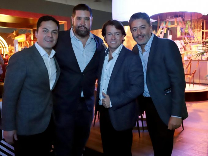 Jairo Solano, Abel Hernández, Eduardo Wichtendahl Palazuelos y Eucario González