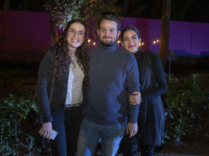 Ana Paula Salinas, Mateo Suárez y Lorena Meouchi