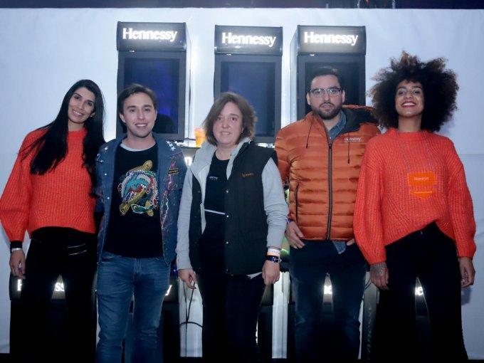 Diego Guichard, Delphine Vázquez y Eduardo Sabra