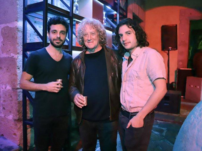 Leandro Sicolo, Luis Mandoki y Carlos Lozada