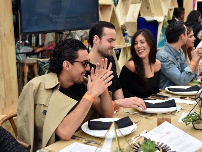 Vicente Tamayo, Armando Núñez y Rebeca Treviño