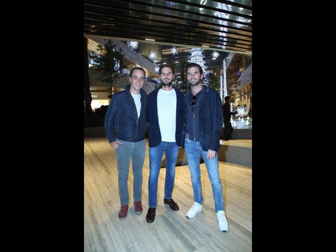 Santiago de Haro con Javier y José Juan Sordo