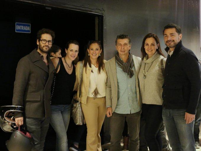 Mauricio Valle, Marcela Teutli, Elizabeth Landaverde, Víctor Ugalde, Mónica Ortiz y Ricardo Arredondo