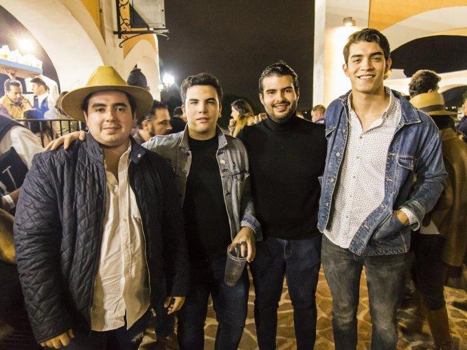 Pedro Juárez, Santiago Hernández, Alfonso Juárez y Jesús Martínez