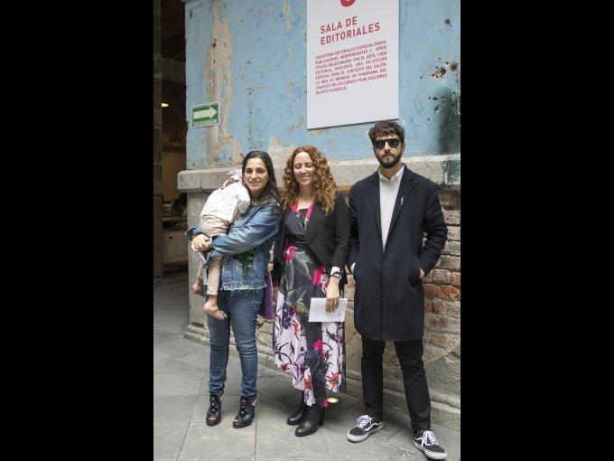 Soumaya Slim, Viviana Kuri y Sebastián Vizcaíno