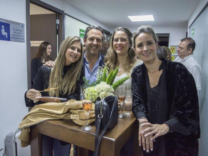 Elena Chapula, Pablo Olavarrieta, Luisa Fernanda Almaraz y Adriana Escalante