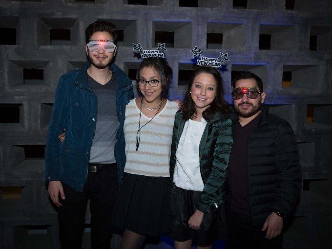 Sebastian Reyes, Jessica Reyes, Carolina Reyes y Cristian Castillo