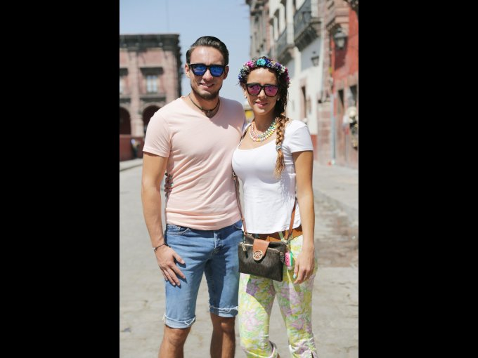 Fabricio Monsalvo y Stephanie Dávila