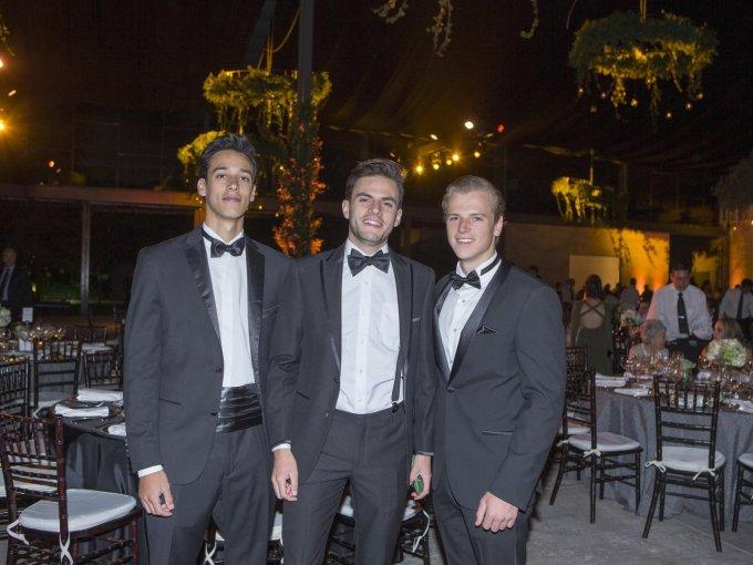 Mauricio de Hoyos, Francisco Galindo y Christian Baur